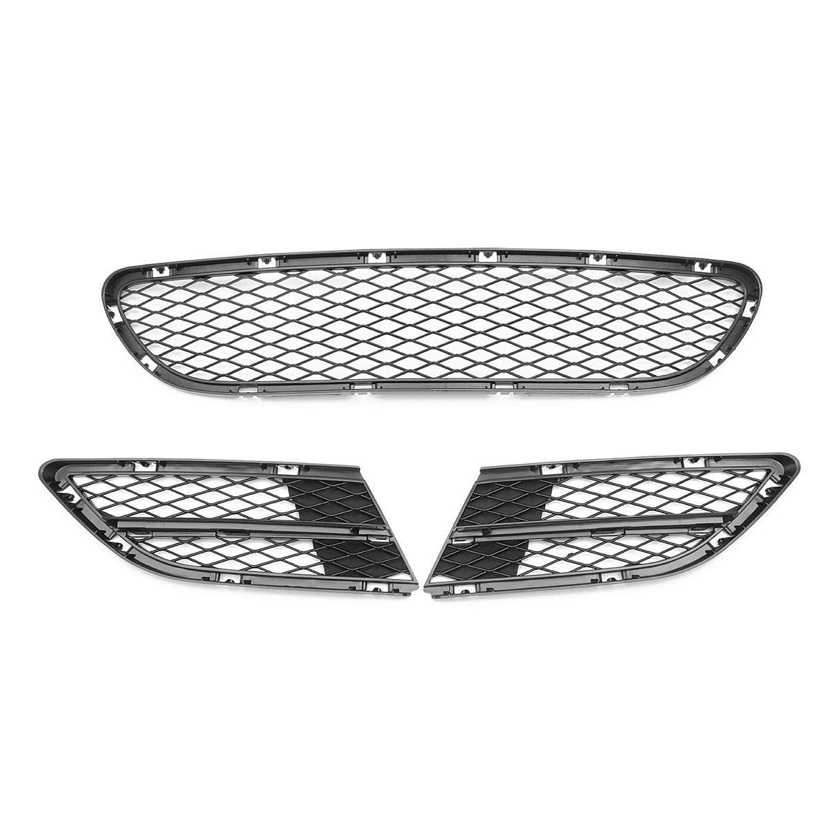 Rejilla de rejilla delantera inferior para rejilla de ventilaci/ón de parachoques delantero para BMW Serie 3 E90 E91 325i 328i 335i COD