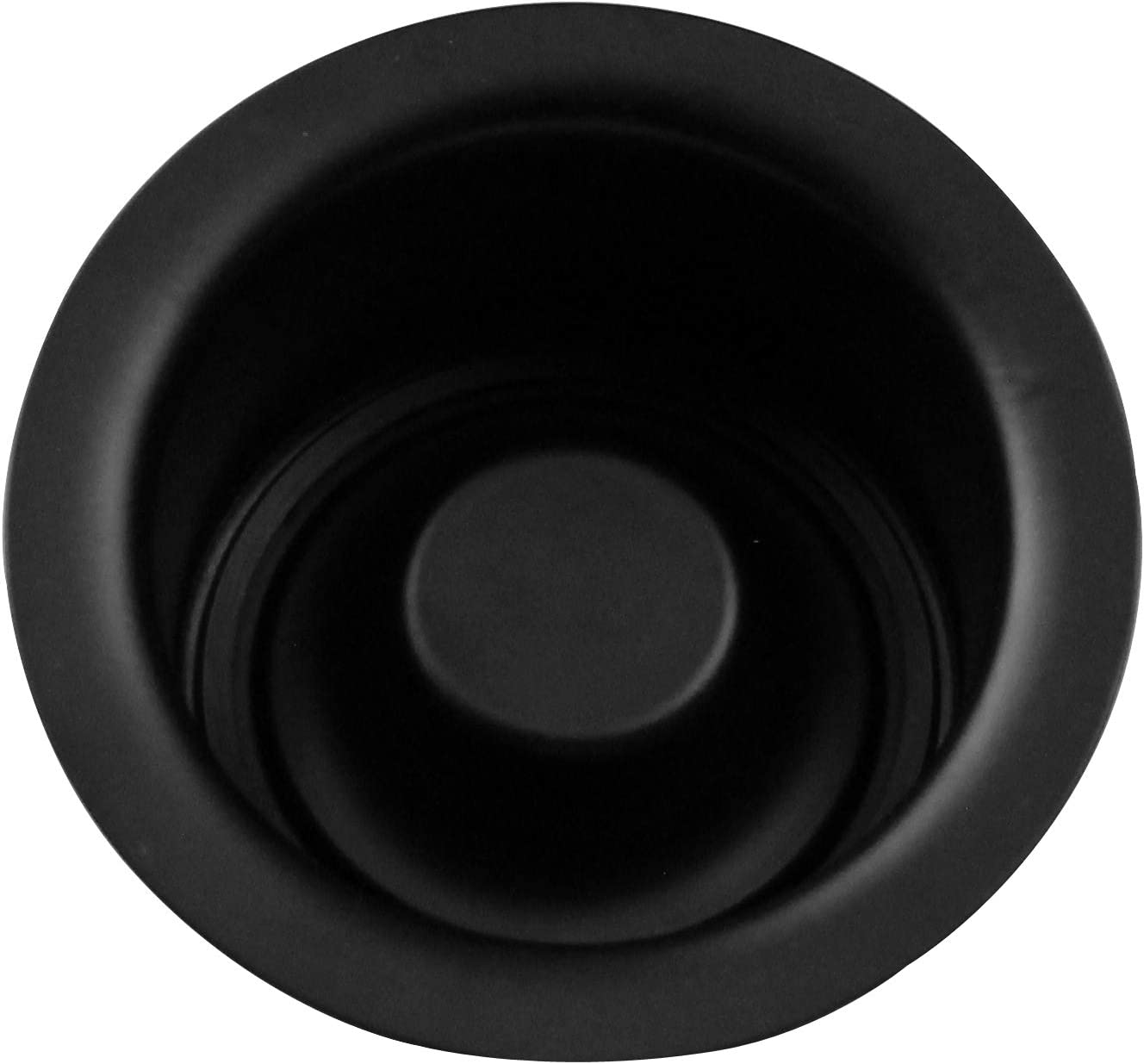 Westbrass R2082-62 InSinkErator Style Extra-Deep Disposal Flange and Stopper, Matte Black