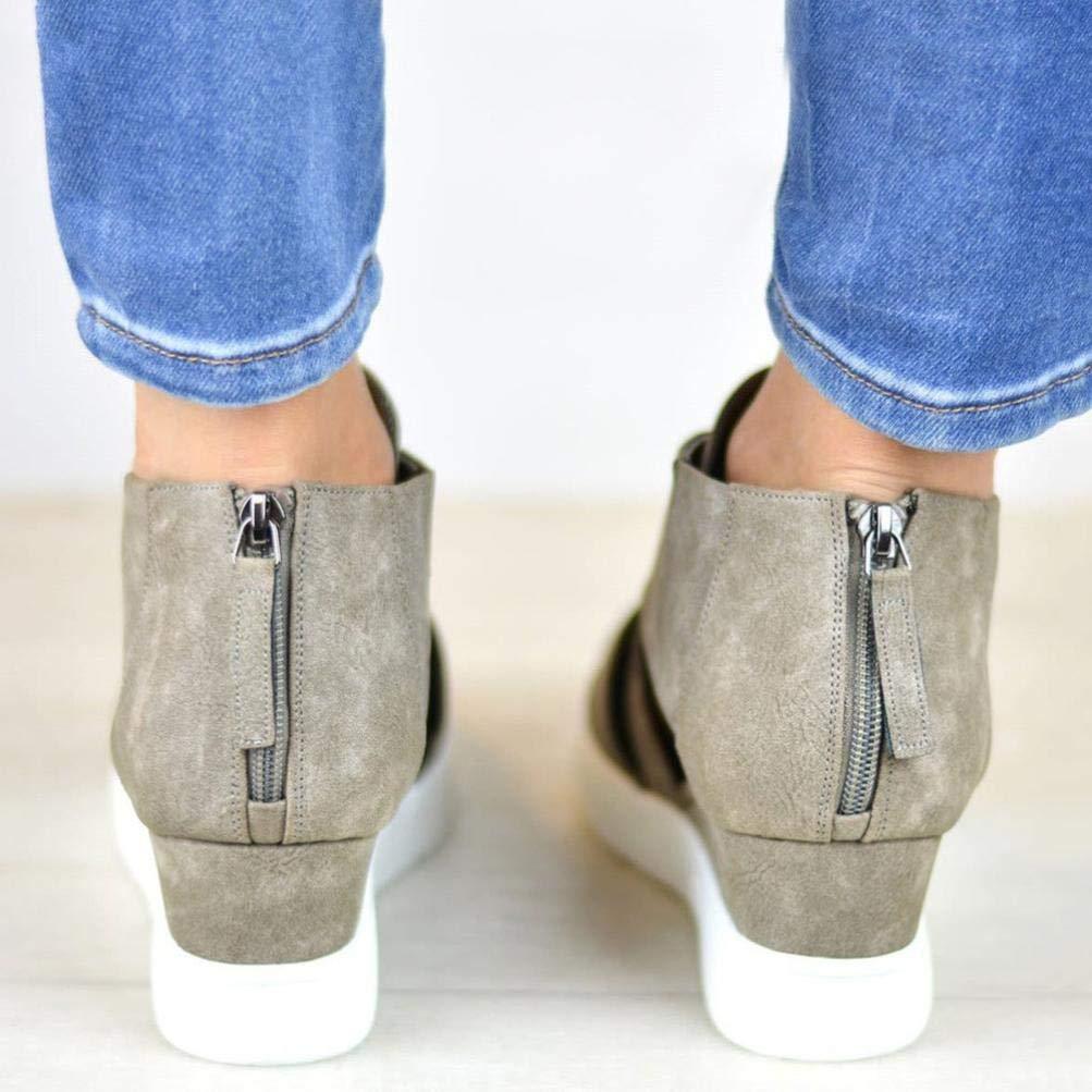 Tootu Women's Shoes,Flat With Zipper Scrub Matching Matching Matching Single Shoes B07GP5YVQP Platform 61c5e5