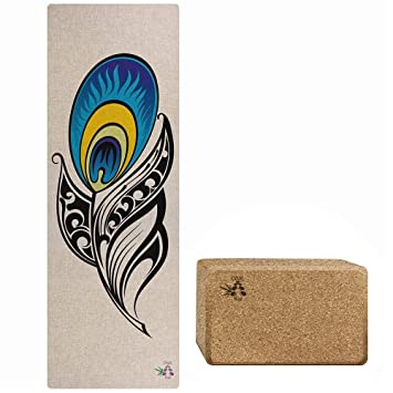 Amazon.com : ONE Bae Hemp Anti-Slip Yoga Mat with 100 ...