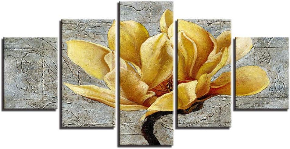 BBQBQ Pintura Decorativa, HD Cocina casera Flores Amarillas de ...