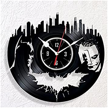 HMGift Batman Vinyl Wall Clock – Great Gift for Birthday, Anniversary or Any Other Occasion – Beautiful Home Decor – Unique Design That Made Out of Retro Vinyl Record