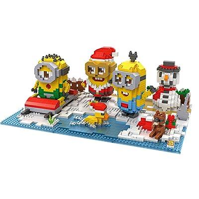 Puzzles 3D Jouets Enfants Cadeaux de Noël Jeu Construction Minions Ensemble (Loz,1860pcs Minions Noël Forme )