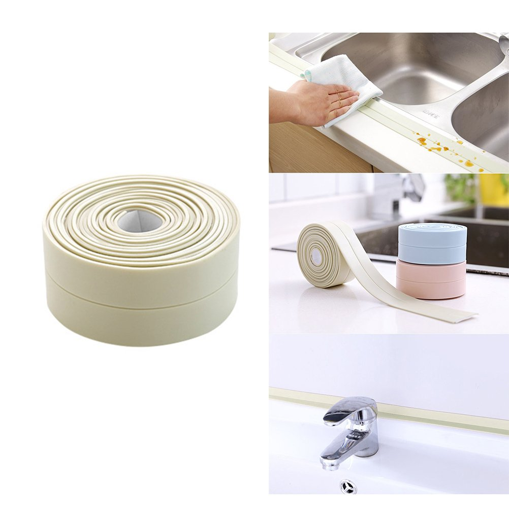 Kitchen Caulk Tape Waterproof Anti-Mildew Sealing Strip Bathtub Wall Corner Caulk Strip 3 X 255CM Pink
