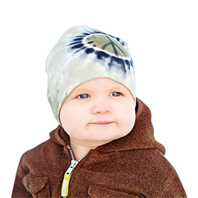 03bb7fb6013 Amazon.com  Melondipity Peace Out Baby Hat Cotton Beanie with Tie ...