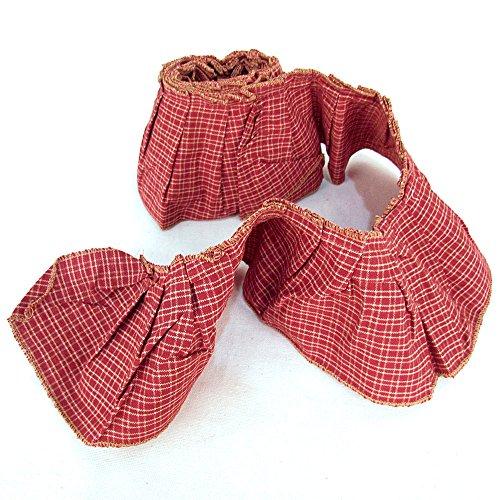 Ruffled Ribbon Trim - 4 Inch X 72 Inch Ruffled Red Homespun Trim By Jubilee Creative Studio