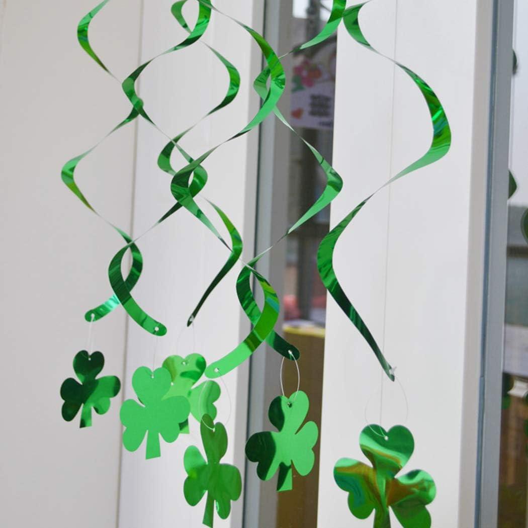 Funpa 18PCS Hanging Swirl Party Swirl Hanging Decor Swirl for St.Patricks Day