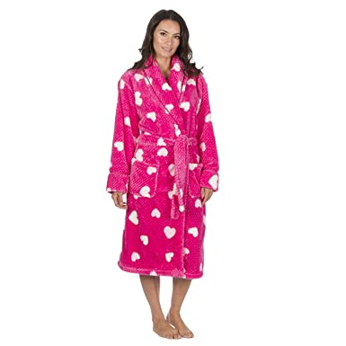 Forever Dreaming Ladies Waffle Fleece Dressing Gown - Luxury Heart ...