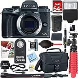 Canon EOS M5 Mirrorless Black Digital Camera Body + 64GB SDXC Memory Card + DSLR Camera Bag + LP-E17 Battery/Charger + Bounce Zoom Slave Flash + Card Reader + Microfiber Cloth + Tripod + More
