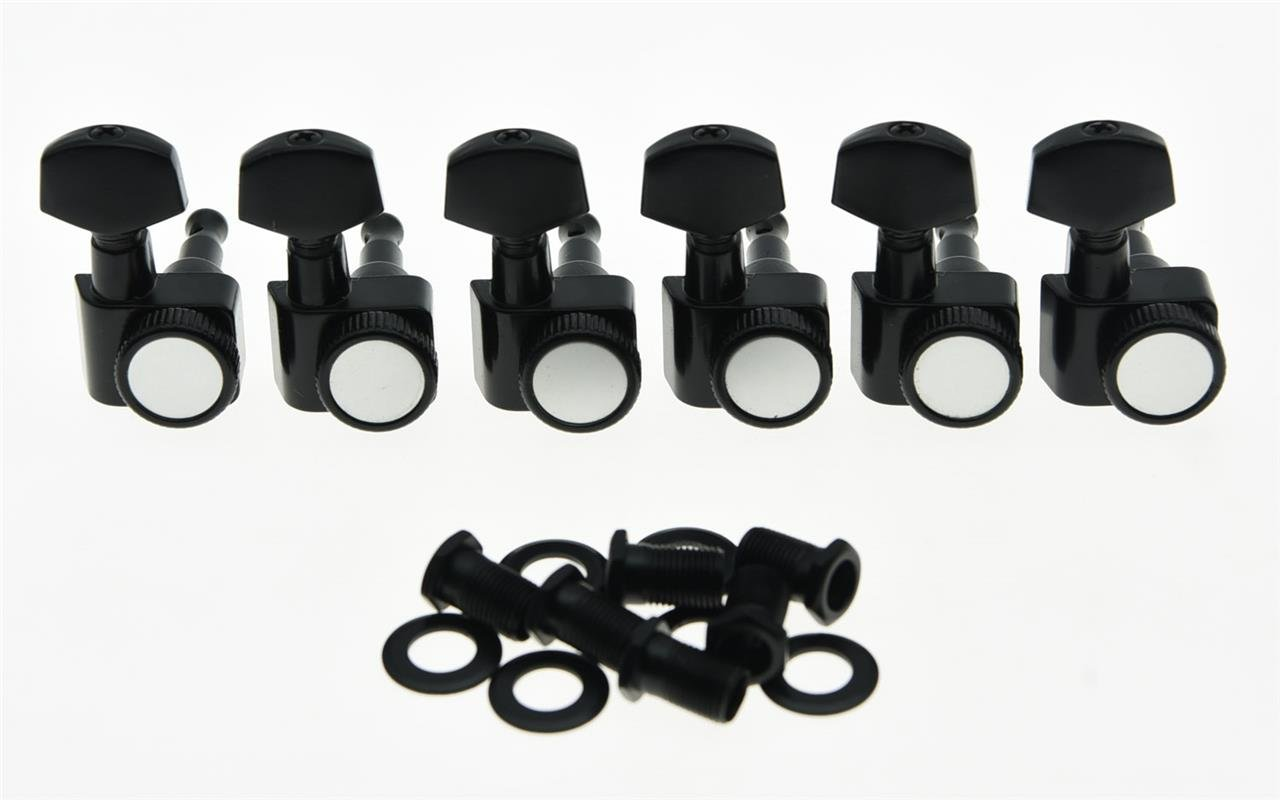 KAISH Black 2 Pin Locking Tuners Tuning Keys Pegs fits USA Fender Strat Tele Guitars Kaish Music K1008