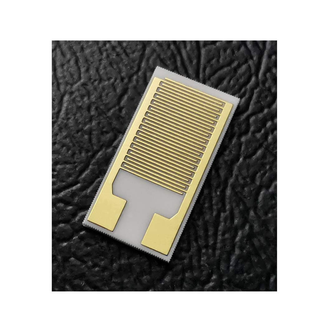 5 Pieces 100μm Interdigitated Gold Electrodes Interdigital Capacitor Arrays Medical Sensor Gas Sensor Alumina Ceramic Thick Film IDE (5mm-10mm)