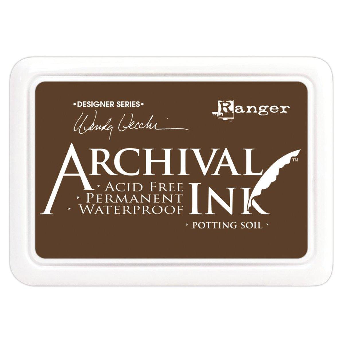 Wendy Vecchi Designer Series Archival Ink Pad-Potting Soil Ranger AID-38979