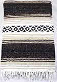 Mexican Falsa Yoga Beach Blanket Dark Brown/Tan/Black Classic Quality