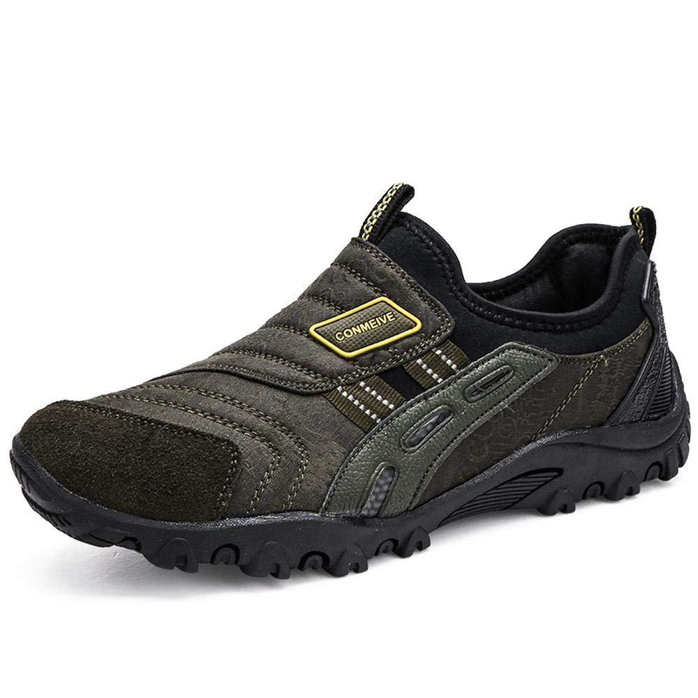 vert EU40 250mm UK6.5 QAZW Chaussures de randonnée Chaussures à pédales d'extérieur pour Hommes avec Chaussures antidérapantes- idéales Unisex la Marche et la randonnée gris-EU42 260mm UK8