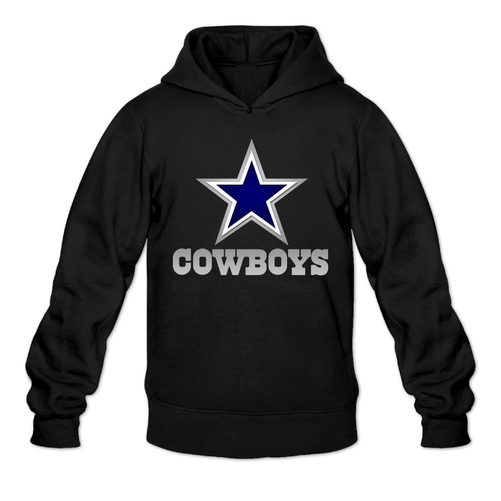 DVPHQ Men's Design Dallas Star Logo Cowboys Hoodie Black DVPHQ Fashion