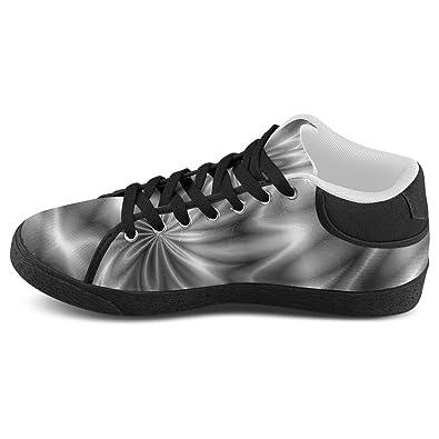 e7dec84d7448 D-Story Custom Blue Shiny Swirl Mens Slip-on Canvas Shoes