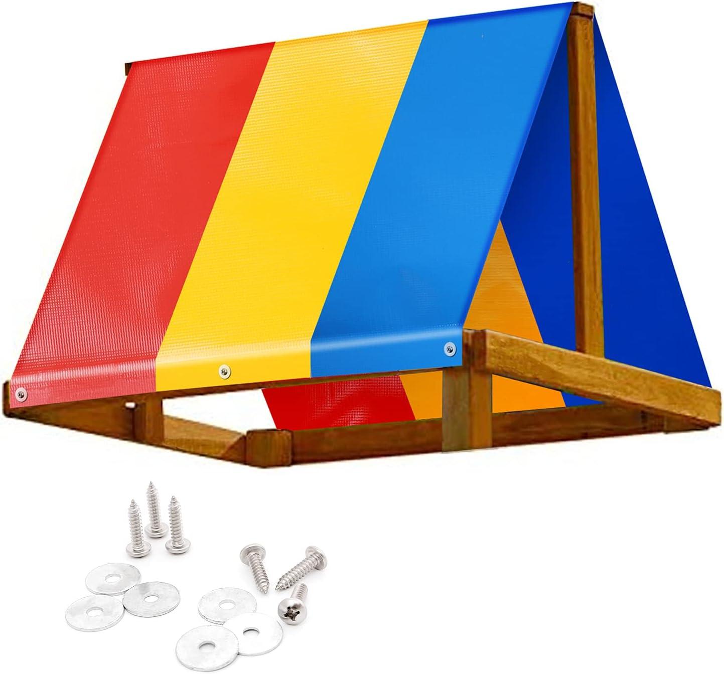 Yescom 52x90 Swing Set Canopy Replacement Waterproof Playground Tarp Cover Roof Playset Outdoor Child Swingset Shade