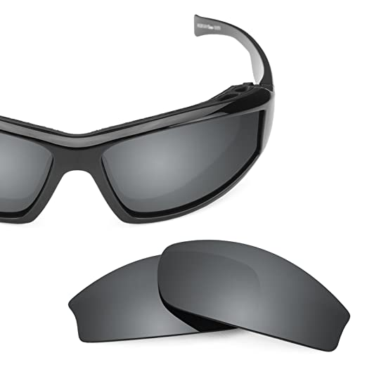 39902cb9c9 Revant Polarized Replacement Lenses for Wiley X Jake Elite Black Chrome  MirrorShield