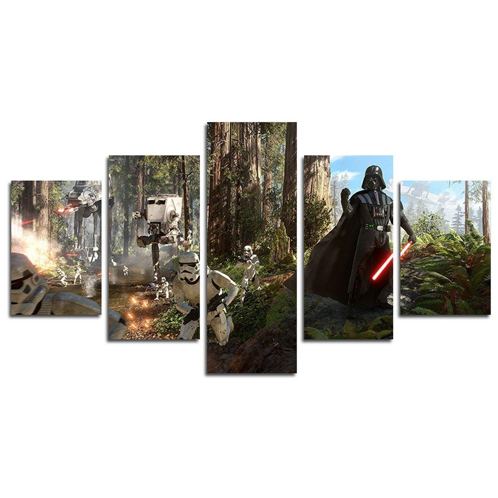 YspgArt66 Print Wall Art, 5 Stück Star Wars Film Szene auf Leinwand ...