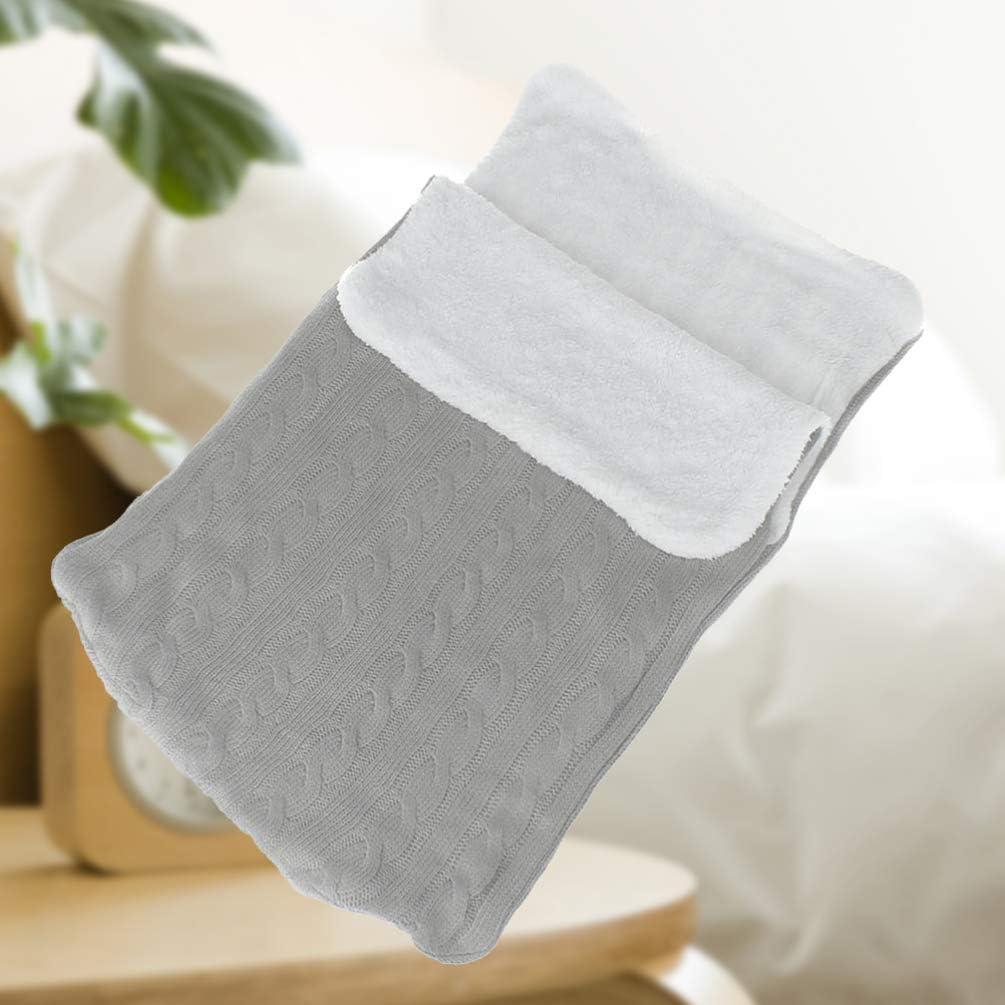 STOBOK 1 pieza Unid Baby Swaddle Blanket Warm Thickened Knit Sleeping Bag Blanket Wrap Stroller Wrap para ni/ño peque/ño reci/én nacido gris claro