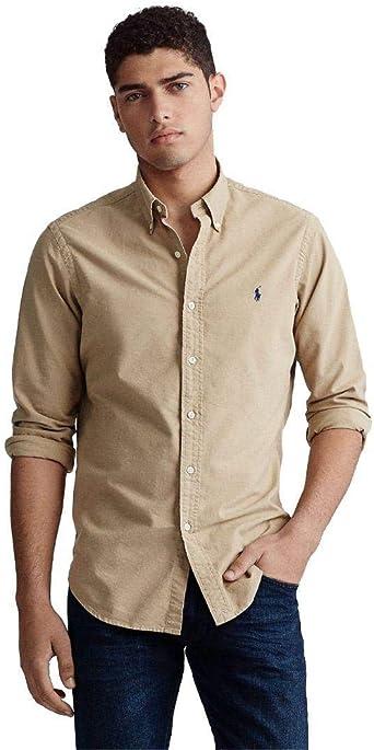Ralph Lauren Camisa Color Tostado para Hombre: Amazon.es: Ropa y accesorios