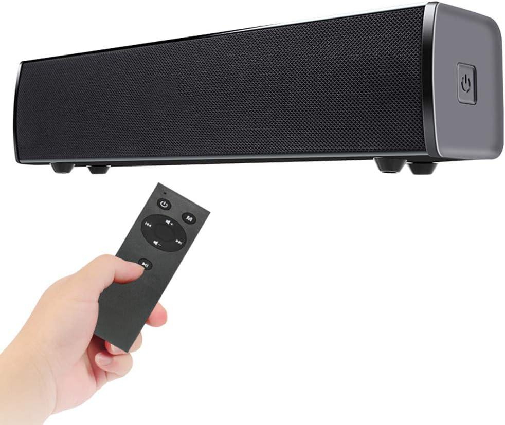 WHCCL Barra de Sonido, Altavoz portátil Bluetooth Altavoces duales portátiles, con Control Remoto, para TV, PC, teléfono Celular, proyector de tabletas: Amazon.es: Hogar