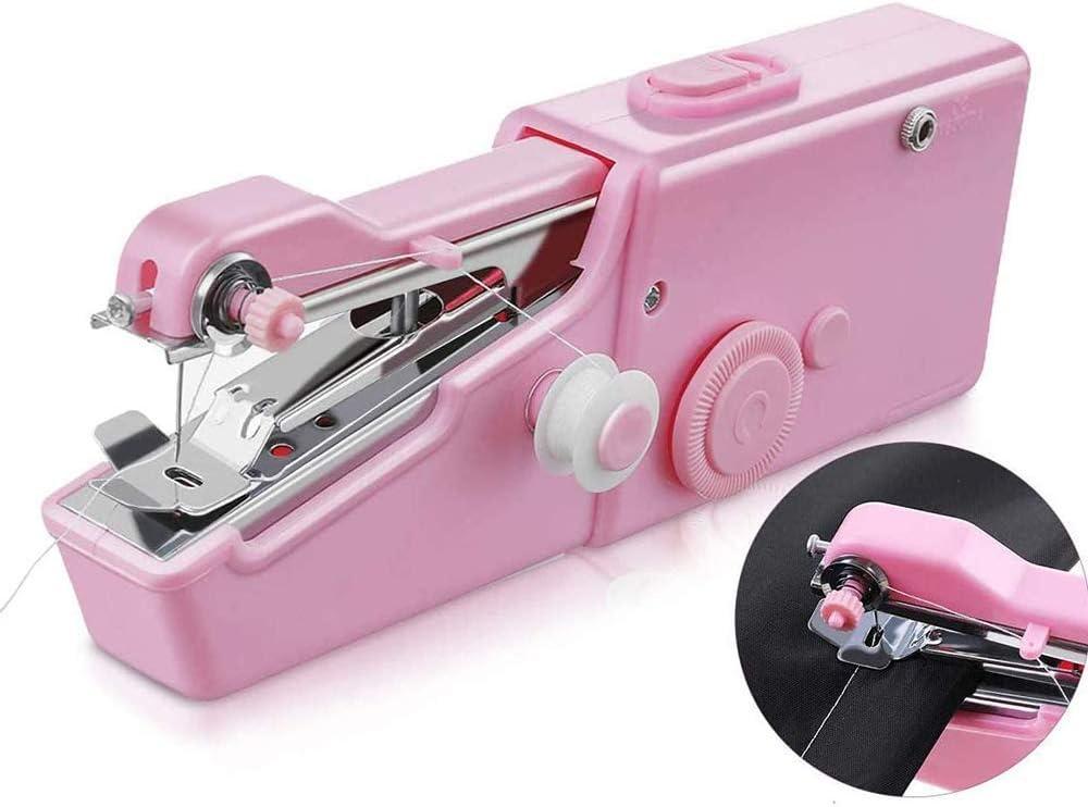 Zhihao General de Mini Máquina de Coser Handheld Portable de la Mano Máquina de Coser eléctrica de reparación rápida Conveniente for el hogar Viajes, Ropa, Tela, Cortina, Ropa for Mascotas