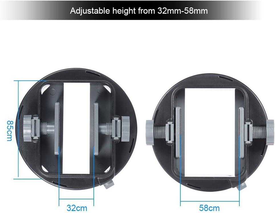 Andoer Universal Flash Adapter Mount Bracket for Nikon Canon Yongnuo Godox Speedlight Barn Door Mini Refelctor