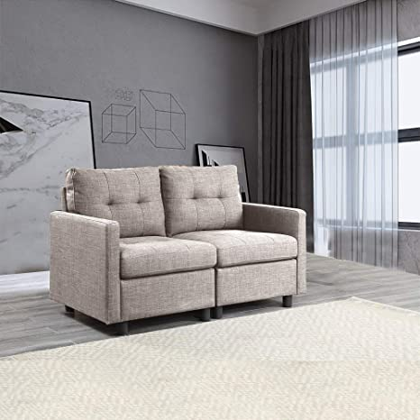 Wondrous Contemporary Upholstered Modular Sectional Couch Loveseat Sofa Grey Gmtry Best Dining Table And Chair Ideas Images Gmtryco