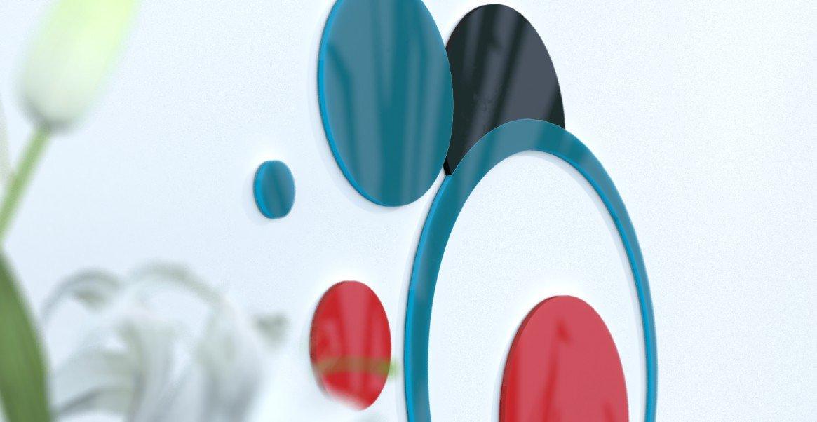Deko Wand-Wohnzimmer originelle Blaue Ente und grau silber rot   schwarz   grau foncÃeacute; Blau Canard   rot   schwarz