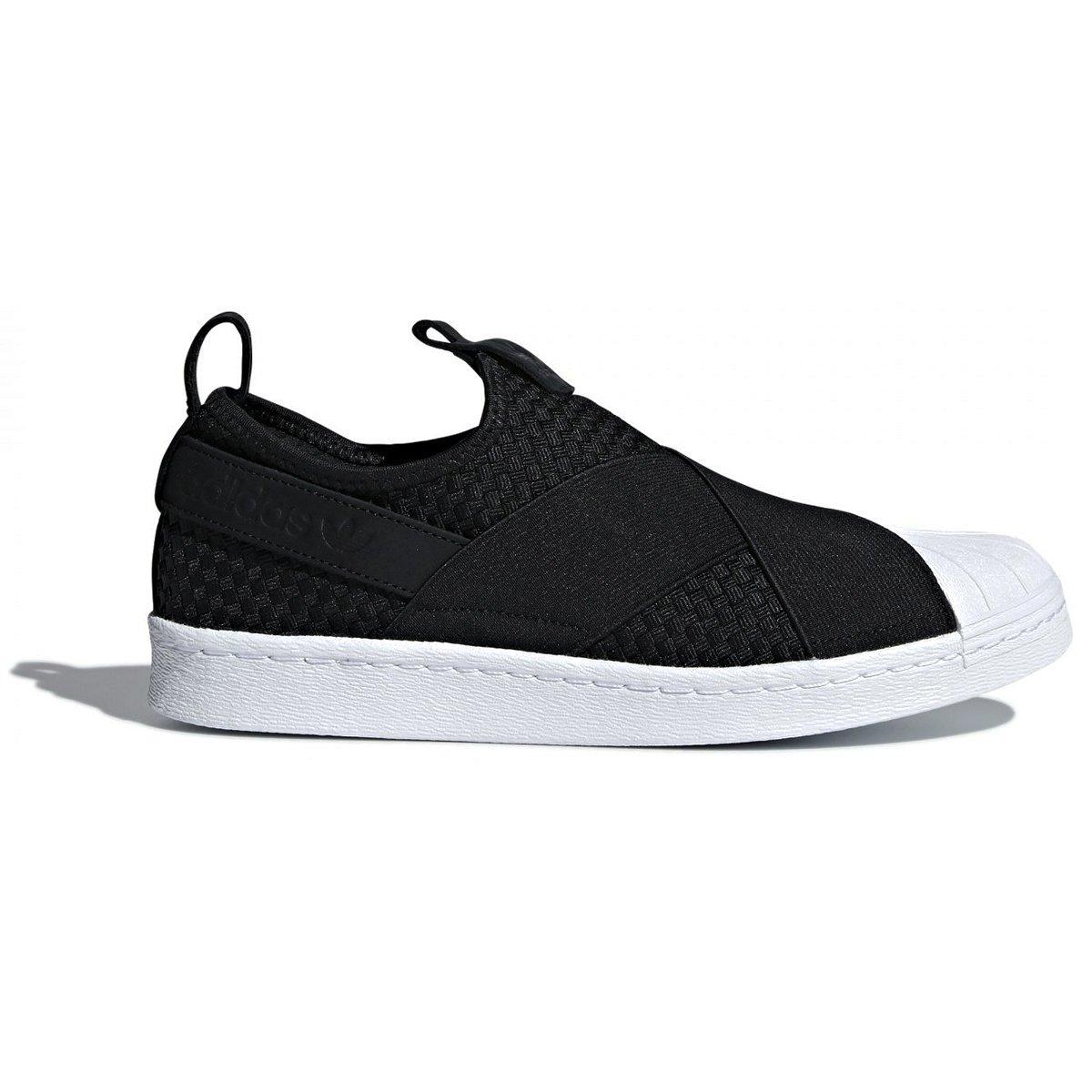 [アディダス] スーパースター スリッポン (adidas ORIGINALS SS SlipOn) コアブラック/コアブラック/ランニングホワイト CQ2487 日本国内正規品 B07CWNZPG4 22.0cm