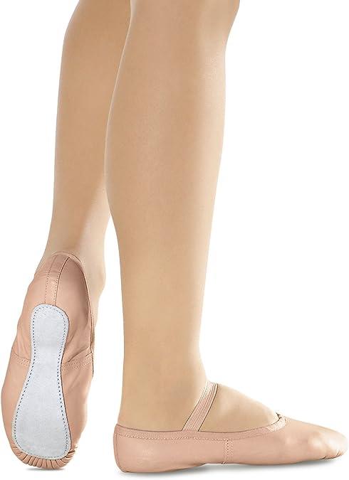 Ballettschläppchen Leder, Weite N (vorrätig in Gr. c6½ 3½