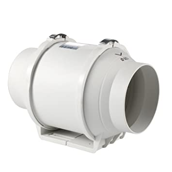 Honu0026Guan 125mm Abluftventilator Hochleistungs Inline Rohrventilator  Mischstrom Lüftungsanlage Abluft Für Zimmer Badezimmer Küche (125 Mm
