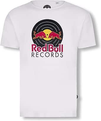 Red Bull Records Vinyl Camiseta, Blanco Hombre: Amazon.es: Ropa