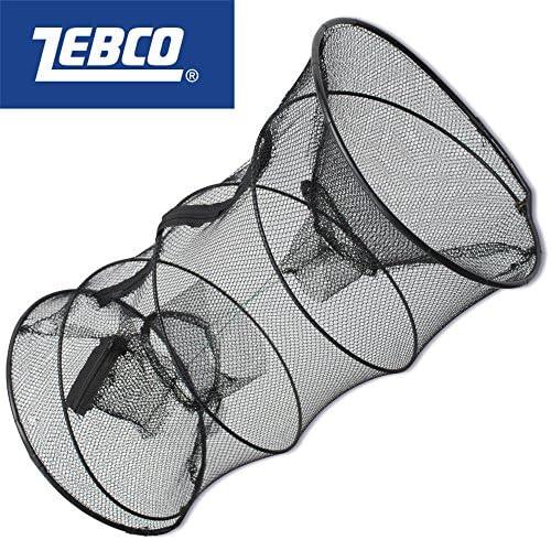 Zebco Köderfischreuse & Krebsreuse rund 60x30cm - Reuse für Köderfische & Krebse, Netz zum Fangen von Fischen & Krebsen