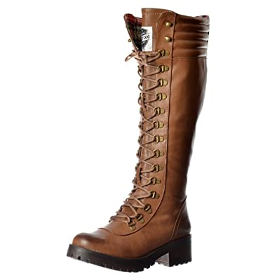 0a401fadbd Rocket Dog Women's Landers Bromley Knee High Military Style Lace Up Boots  UK8 - EU41 -