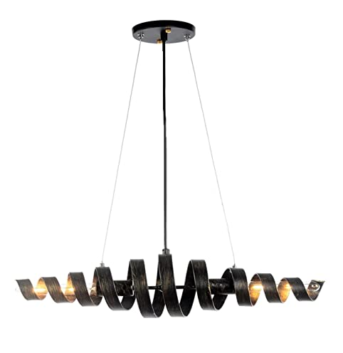 Metal spiral chandelier office restaurant iron winding chandelier ...
