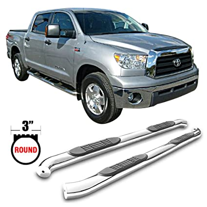 """3/""""  S//S Side Step Running Board Nerf Bar For 2007-2019 Toyota Tundra Double Cab"""