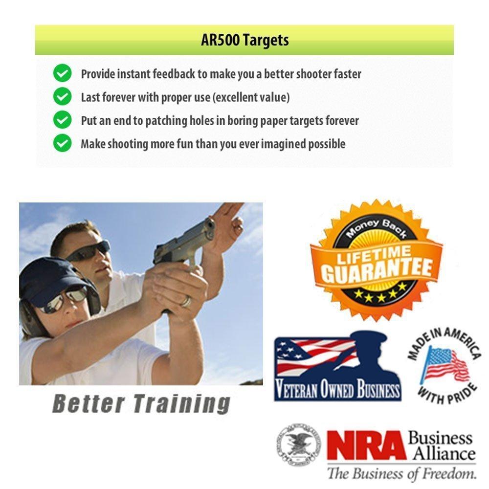 AR500 Steel Gong Target 24''x24''x3/8'' by ShootingTargets7 (Image #4)