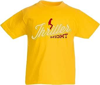 lepni.me Camiseta para Niño/Niña The Thriller Night Dance 80s 90s, MJ Rey de la música Pop