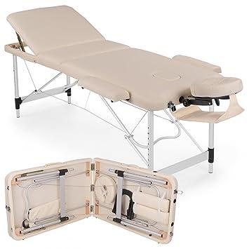 Aluminio Camilla de masaje 3 zonas Masaje mesa masaje Banco ...