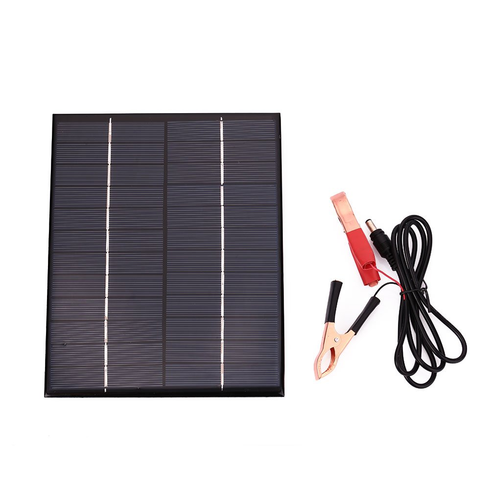 Hanbaili Car Vehicle Auto Waterproof Polycrystalline 5.5W 12V Solar Panel Battery Charger