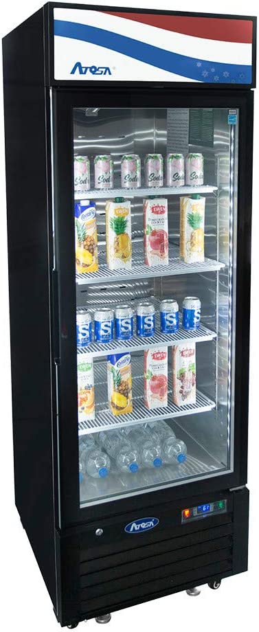 "Atosa MCF8725GR Single Section Refrigerator Merchandiser, 24-1/4""W x 24""D x 76-1/4""H"