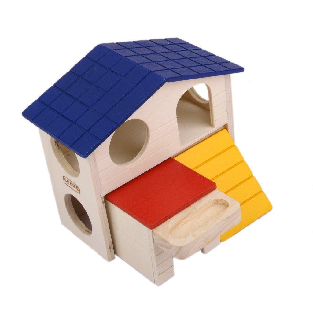Hamster souris gerbille Netteté Maison en bois Échelle jouet trou rond Dia. 4cm Unbekannt