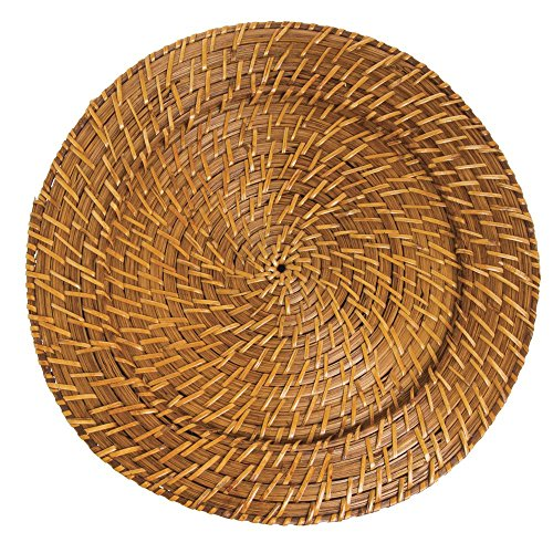 """Jay Companies Harvest Natural Rattan Charger Plate -13""""Dia"""
