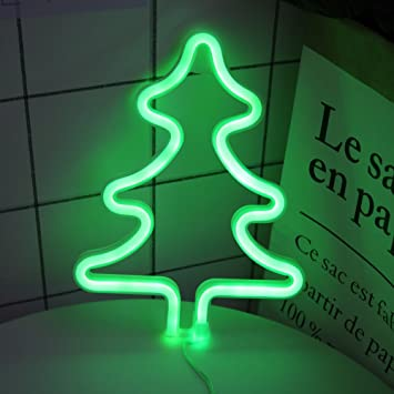 delicore led xmas tree neon light sign wall decor night lights home decoration party supplies christmas