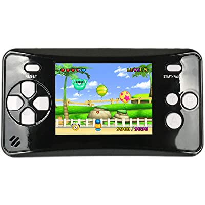 HigoKids Handheld Game Console for Kids Portable Retro Video Game Player Built-in 182 Classic Games 2.5 inches LCD Screen Family Recreation Arcade Gaming System Birthday Present for Children-Black: Toys & Games