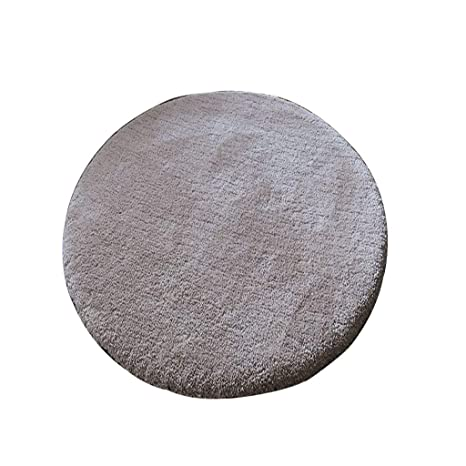 Amazon.com: Simple Solid Color Plush Round Rug for Living ...