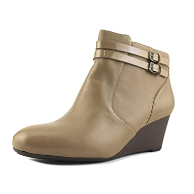 Naturalizer Women's Nikole Bootie,Dover Taupe Leather/Shiny,US ...