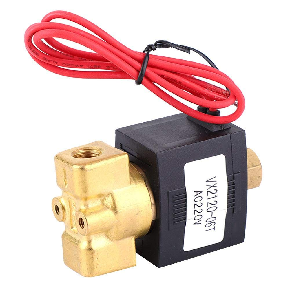 Gas Air SMC Type NO 2-Way 0-1.0Mpa Air Solenoid Valve AC 220V PT1//8 Direct Acting Solenoid Valve Normally Open VX2120-06T for Water Steam Gas etc.